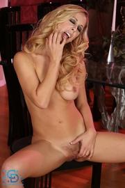 stunning blonde hottie slowly