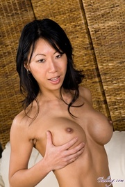 gorgeous asian displays her