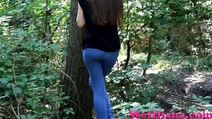 Slim-fit Diana takes off her denim pants after peeing - XXXonXXX - Pic 2