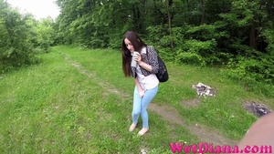 A bottle of beer makes long-haired girl want to pee - XXXonXXX - Pic 4