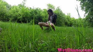 Sexy girl takes off jeans and pees on the lonely stone - XXXonXXX - Pic 3