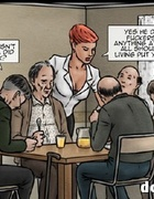 Boobed redhead working in the rest home in cool porn comics. Beware! Old