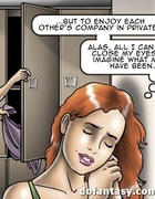 Redhead has dirty fantasies about her colleagues. Repurposed by ERENISCH