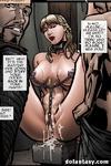 Blonde Medieval beauty in chains gets bukkakked. Siege Of Mesta by COMIXCHEF