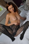 brunette, model, pantyhose, pussy