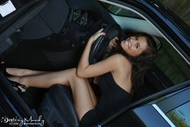 black, dress, individual model, panties