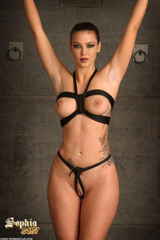 sexy lovely tattooed brunette