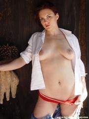 mischievous red girl white