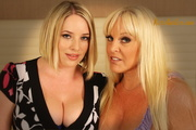 busty lesbian blondes using