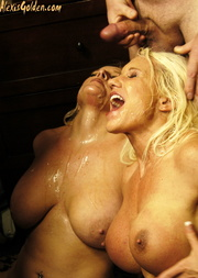 two cum hungry blonde