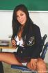 Stunning gurl gets rid of her school uniform in the classroom.