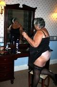 amateur, black, stockings, white