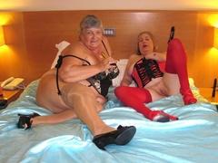 amateur, black, stockings, toys