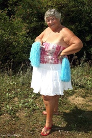 lusty granny wearing her
