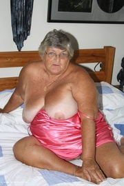 sweet old grandma poses