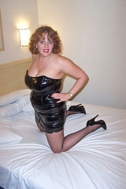 hot babe black leather