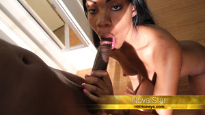 Smoking hot ebony in red nighty and blac - XXX Dessert - Picture 2