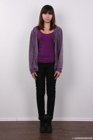 Yummy floozy in a purple sweater, shirt, - XXX Dessert - Picture 2