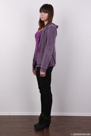 Yummy floozy in a purple sweater, shirt, - XXX Dessert - Picture 3