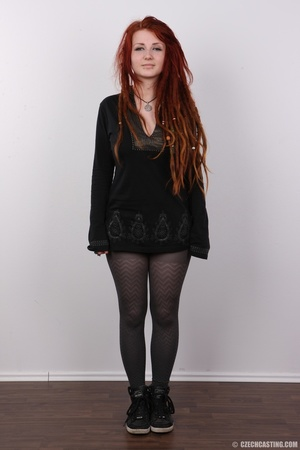 Enthralling redhead miss in a black top  - XXX Dessert - Picture 2