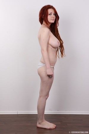 Enthralling redhead miss in a black top  - XXX Dessert - Picture 10