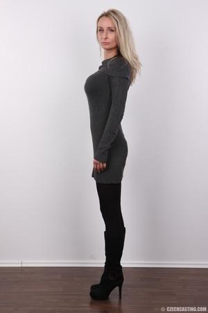 Elegant girlie in a grey top, black pant - XXX Dessert - Picture 3