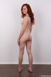 attractive red-haired tramp grey