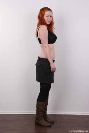 Excellent red-haired lady in a grey shir - XXX Dessert - Picture 5