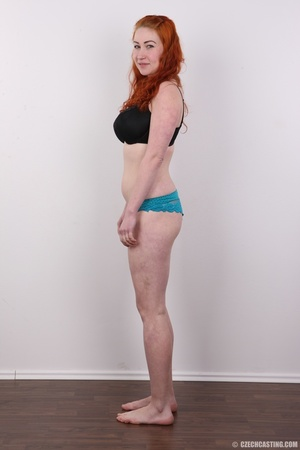 Excellent red-haired lady in a grey shir - XXX Dessert - Picture 7