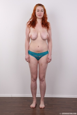 Excellent red-haired lady in a grey shir - XXX Dessert - Picture 8