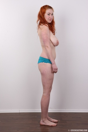 Excellent red-haired lady in a grey shir - XXX Dessert - Picture 9