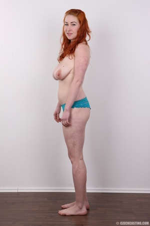 Excellent red-haired lady in a grey shir - XXX Dessert - Picture 10