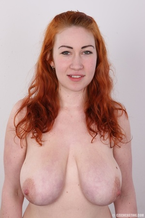 Excellent red-haired lady in a grey shir - XXX Dessert - Picture 11
