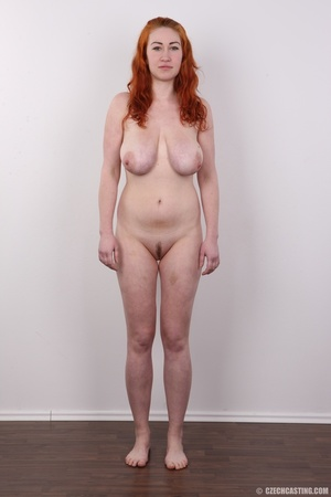 Excellent red-haired lady in a grey shir - XXX Dessert - Picture 14