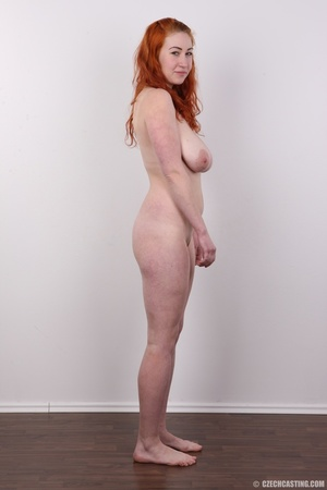 Excellent red-haired lady in a grey shir - XXX Dessert - Picture 15