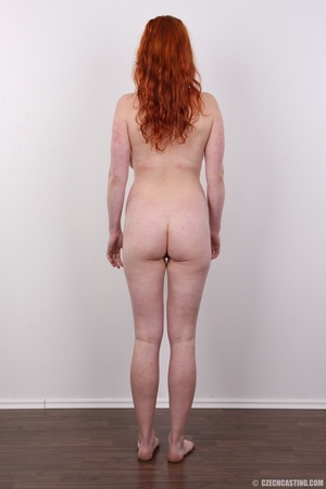 Excellent red-haired lady in a grey shir - XXX Dessert - Picture 16