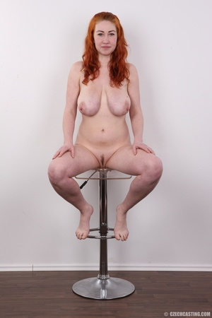Excellent red-haired lady in a grey shir - XXX Dessert - Picture 19