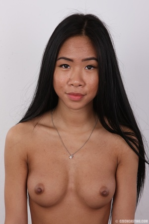 Enticing Asian skank on a stool covers h - XXX Dessert - Picture 11