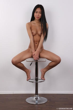 Enticing Asian skank on a stool covers h - XXX Dessert - Picture 20