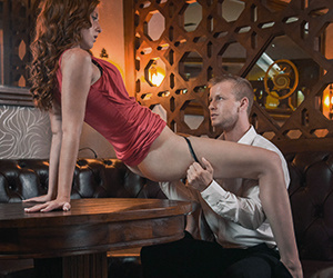 Lovely redhead lets a horny stud strip o - XXX Dessert - Picture 3