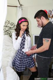 lovely school babe teases