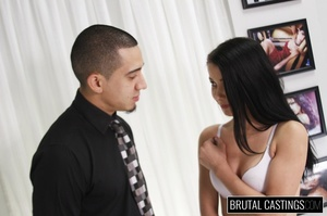 Cute raven teen ass fucked during castin - XXX Dessert - Picture 7