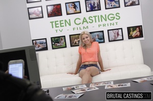 Naive blonde teen's casting domination a - XXX Dessert - Picture 7