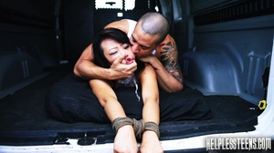 Bound Asian honey tied and fucked in a v - XXX Dessert - Picture 8