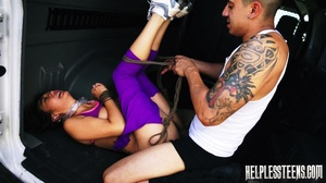 Bound Asian honey tied and fucked in a v - XXX Dessert - Picture 10