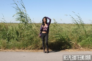 Sexy teen hitchhiker bound and fucked in - XXX Dessert - Picture 1