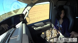 Sexy teen hitchhiker bound and fucked in - XXX Dessert - Picture 3