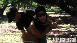 Sexy teen hitchhiker bound and fucked in - XXX Dessert - Picture 8