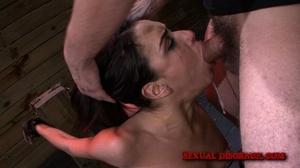 Helpless brunette gets facialized after  - XXX Dessert - Picture 6