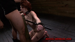 Cute redhead gets her mouth fucked in th - XXX Dessert - Picture 8